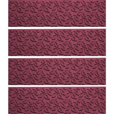 Bordeaux 8.5 in. x 30 in. Dogwood Leaf Stair Tread Cover (Set of 4)