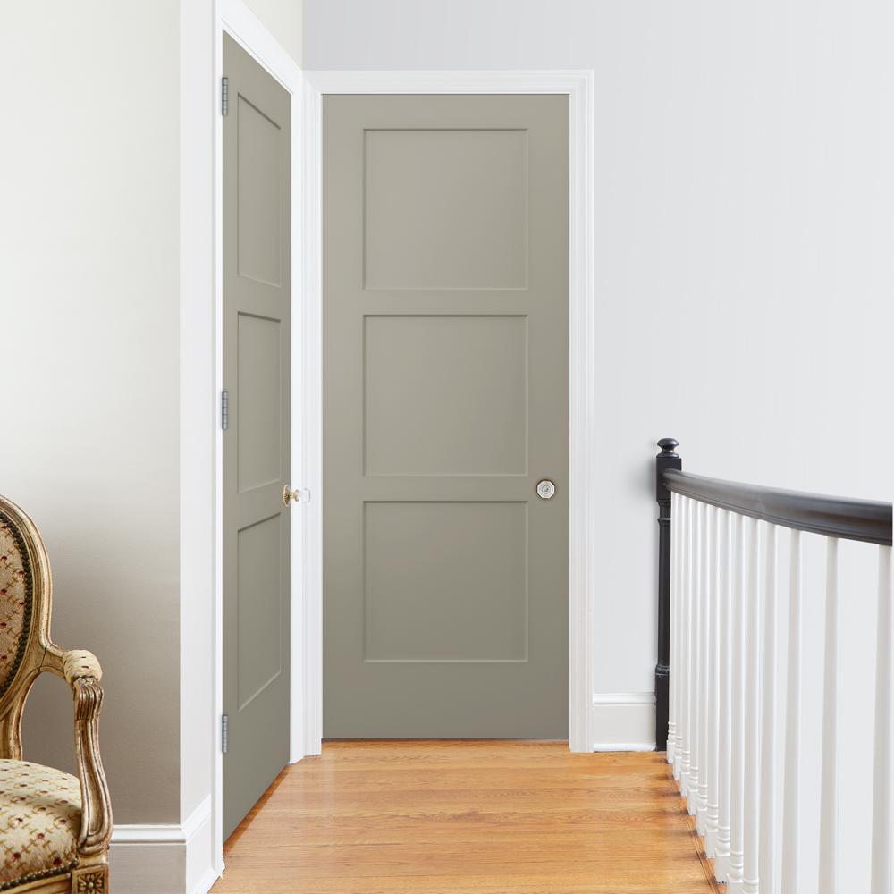 30 in. x 80 in. Birkdale Desert Sand Paint Left-Hand Smooth Hollow Core Molded Composite Single Prehung Interior Door
