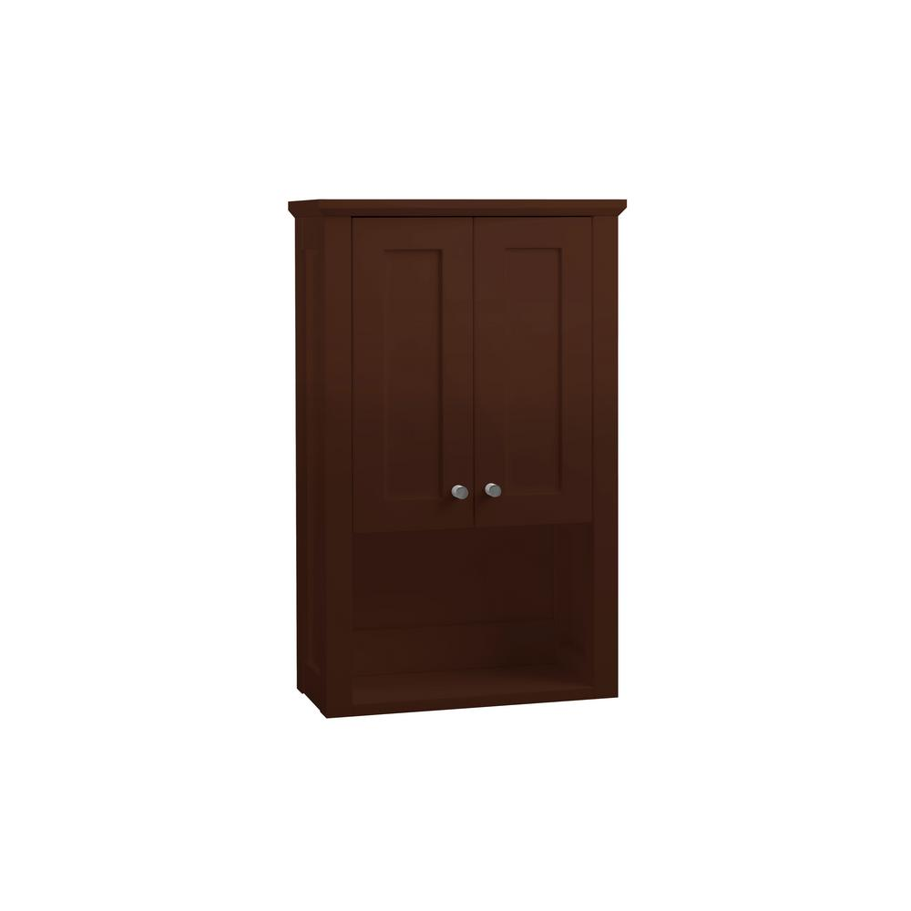 Ronbow Essentials Shaker 19 in. W x 30 in. H x 8-1/2 in. D Over the on cherry bathroom vanities and cabinets, cherry wood cabinets, cherry cabinets in bathroom, cherry display cabinet, cherry pantry cabinet, linen cabinet, 10 wide bathroom cabinet, cherry bathroom storage, cherry bathroom furniture, white corner bathroom cabinet, cherry storage cabinet, bathroom vanity with center cabinet, cherry bathroom mirror, hannah beauty wall cabinet, cherry bathroom design, cherry bathroom floor, cherry double bathroom vanities, trim under kitchen cabinet, corner wall cabinet, bathroom towel cabinet,