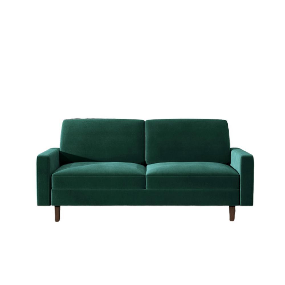 Ross Modern Velvet Green 3 Seater Sofa