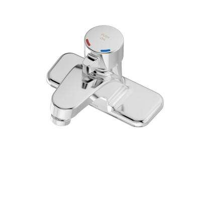 Scot 4 in. Centerset Single-Handle Metering Bathroom Faucet with IPS Connections in Chrome