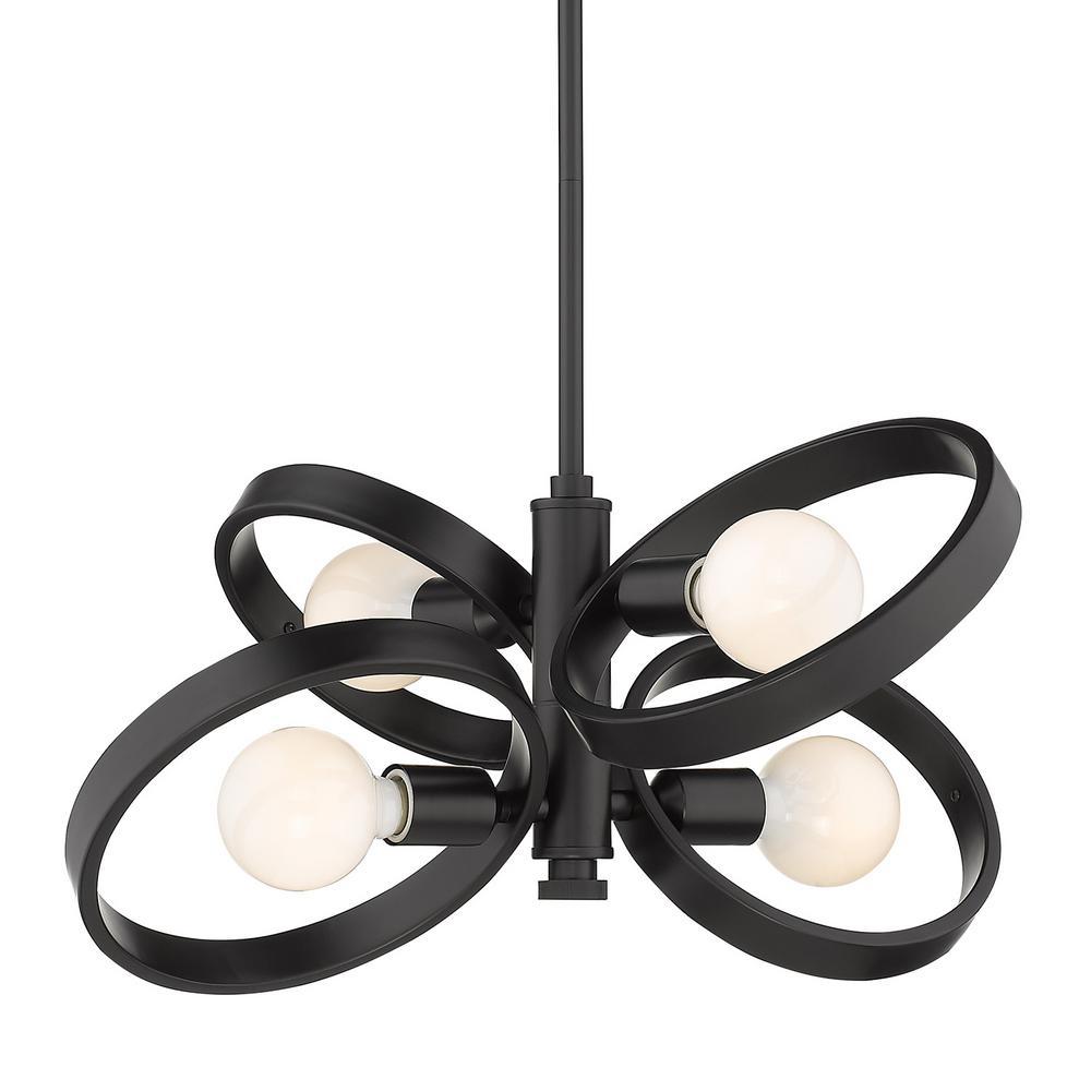 Sloane 4-Light Black Chandelier