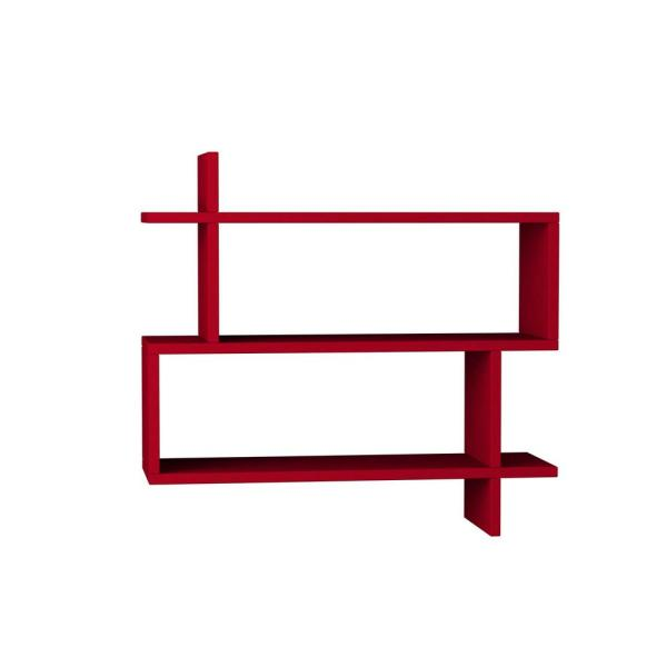 Ada Home Decor Westcott Burgundy Mid-Century Modern Wall Shelf DCRW2036