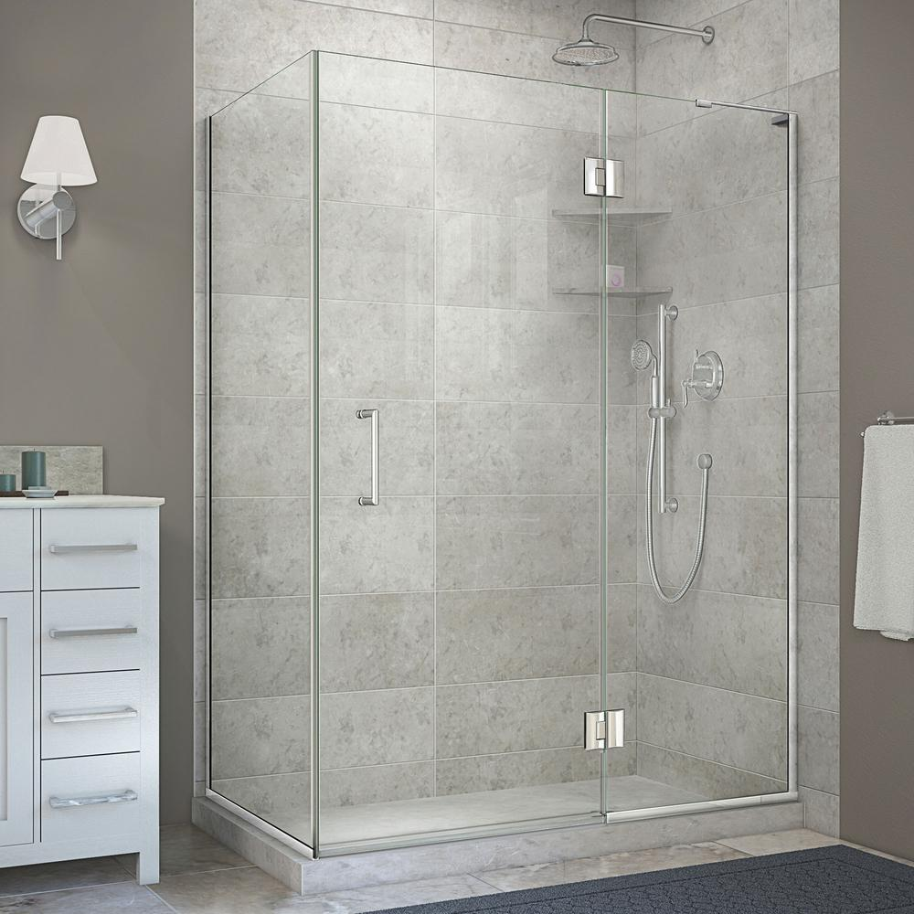 DreamLine Unidoor-X 30 in. x 47-3/8 in. x 72 in. Frameless Corner Hinged Shower Enclosure in Chrome-E32330R-01 - The Home Depot & DreamLine Unidoor-X 30 in. x 47-3/8 in. x 72 in. Frameless Corner ...
