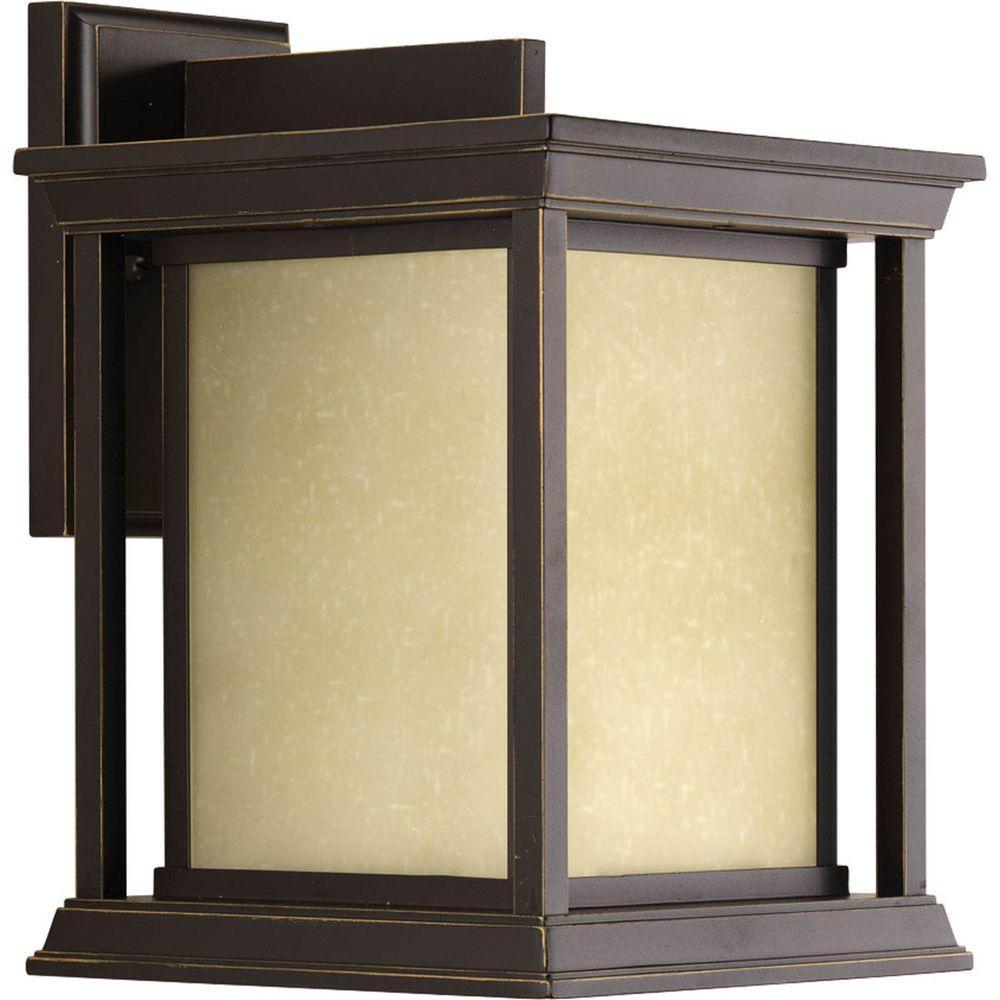 Progress Lighting Endicott Collection 1-Light Antique Bronze 12.5 in. Outdoor Wall Lantern Sconce