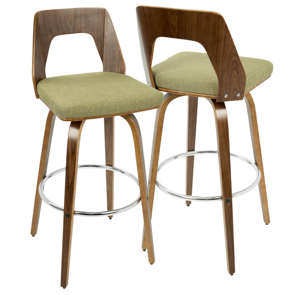 Lumisource Trilogy Walnut And Green Mid Century Modern