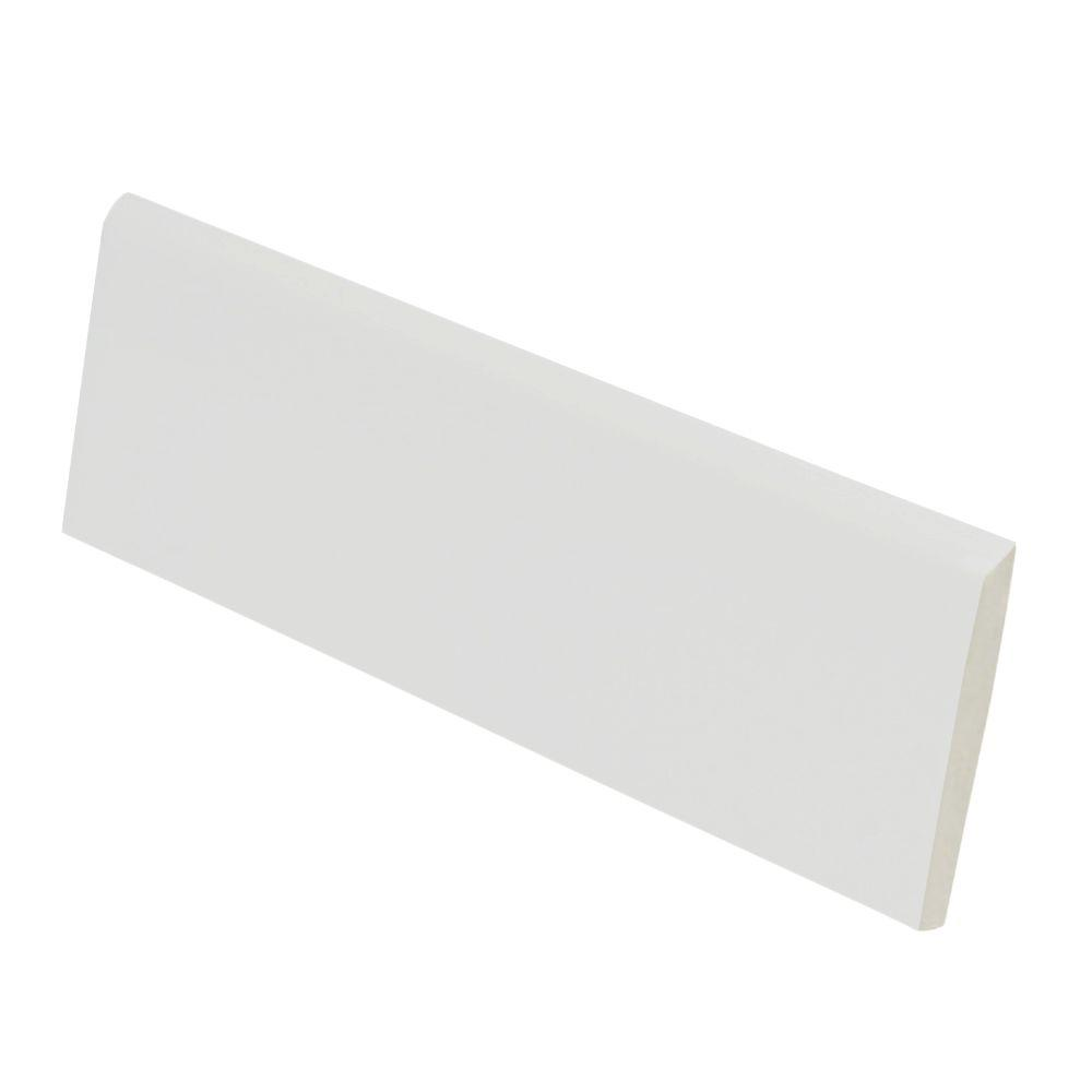 U.S. Ceramic Tile Color Collection Matt Tender Gray 2 in. x 6 in. Ceramic Surface Bullnose Wall Tile-DISCONTINUED