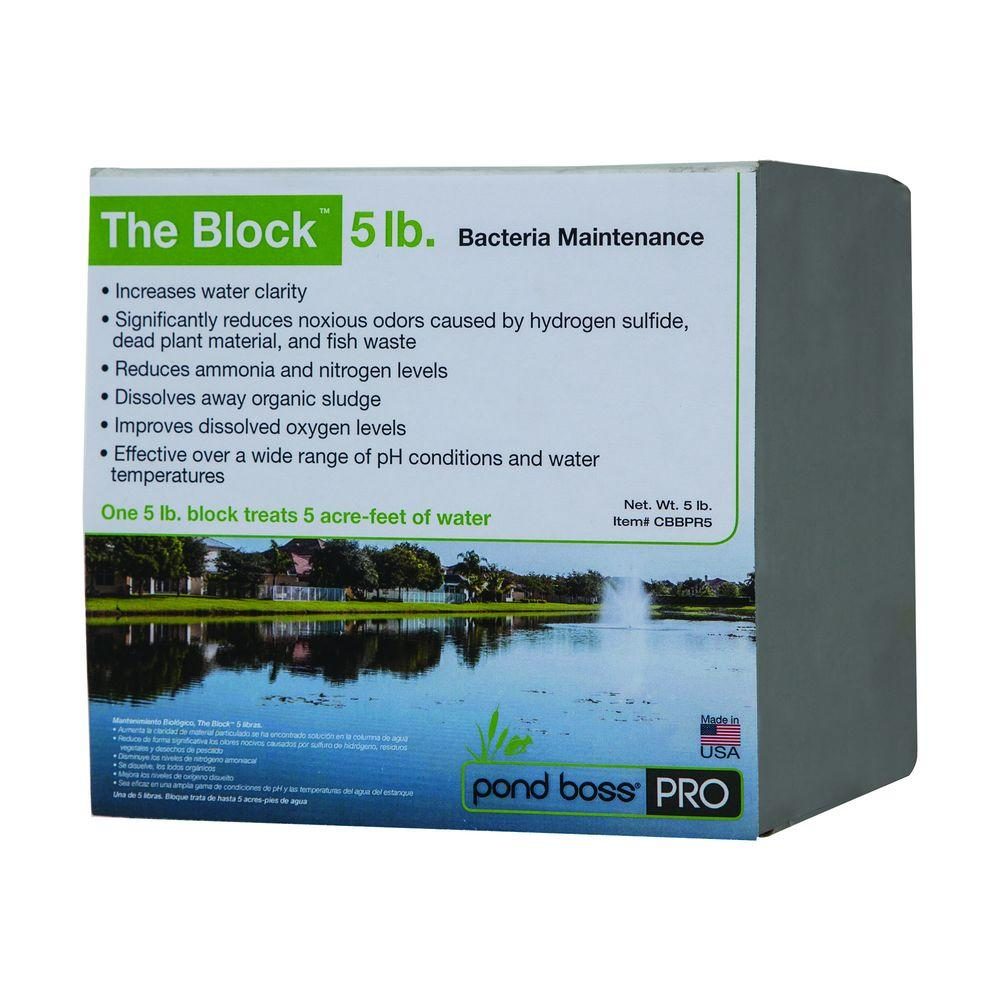 pond boss pro bacteria bio maintenance 5 lb block cbbpr5 the home depot. Black Bedroom Furniture Sets. Home Design Ideas