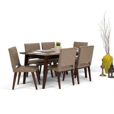 Draper Mid Century 7 Piece Ash Blonde Dining Set