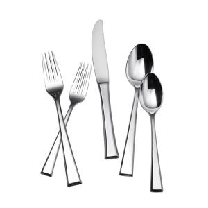 Click here to buy Yamazaki Epoch 65-Piece Polished Silver Stainless Steel Flatware Set Service for 12 by Yamazaki.