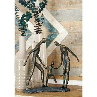 Gray Iron and Wood 3-Tier Wire Basket Wall Rack