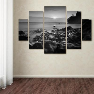 """40 in. x 58 in. """"Sunset At Ruby Beach"""" by Moises Levy Printed Canvas Wall Art"""