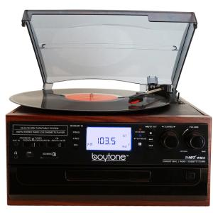 9 In 1 Turntable Audio System Mahogany