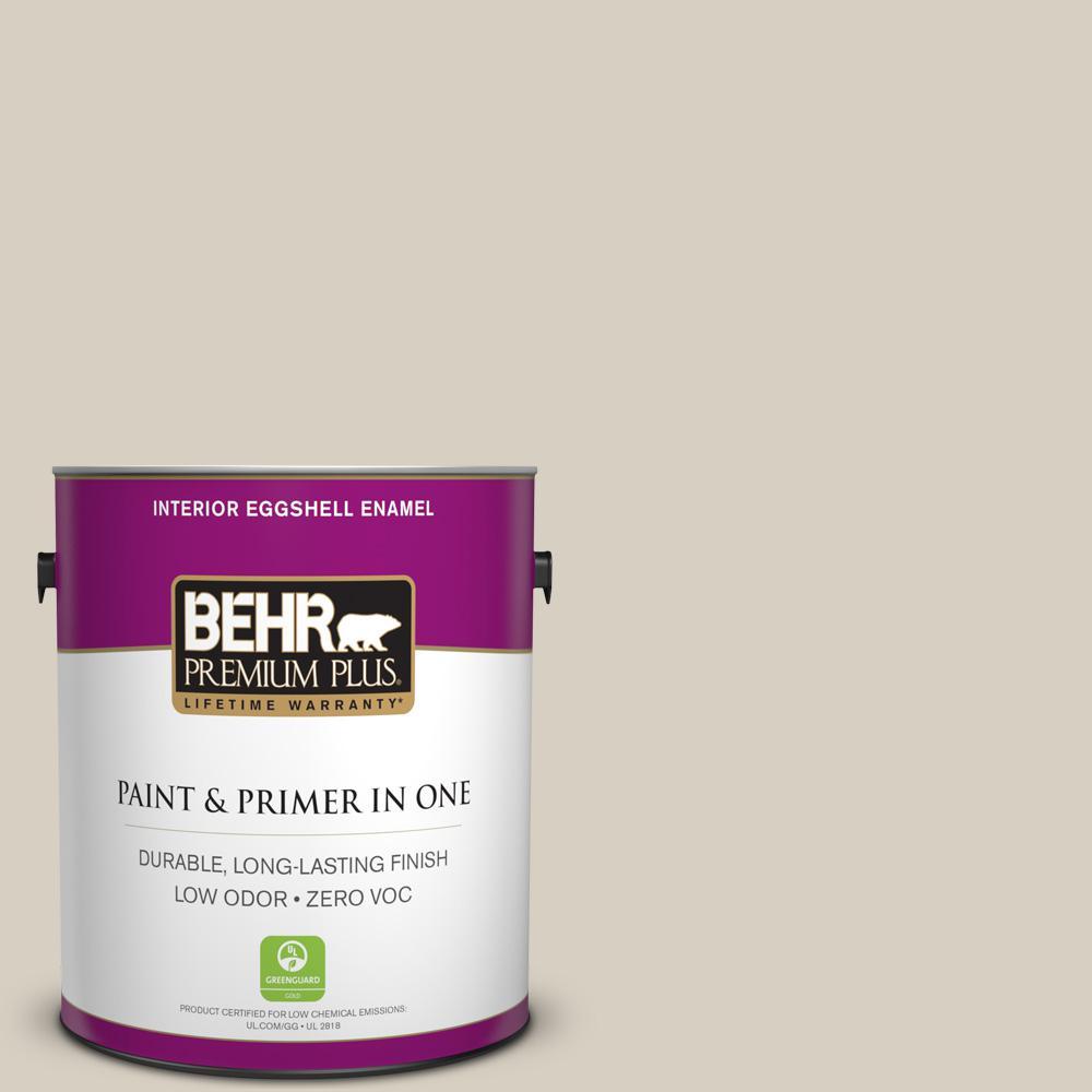 1 gal. #PPU7-09 Aged Beige Zero VOC Eggshell Enamel Interior Paint