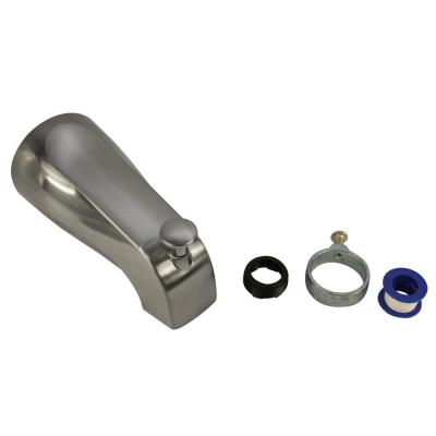 Diverter Tub Spout with Slip Fit and IPS Connection in Brushed Nickel