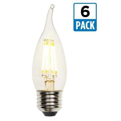 40W Equivalent Soft White CA10 Dimmable Filament LED Light Bulb (6-Pack)