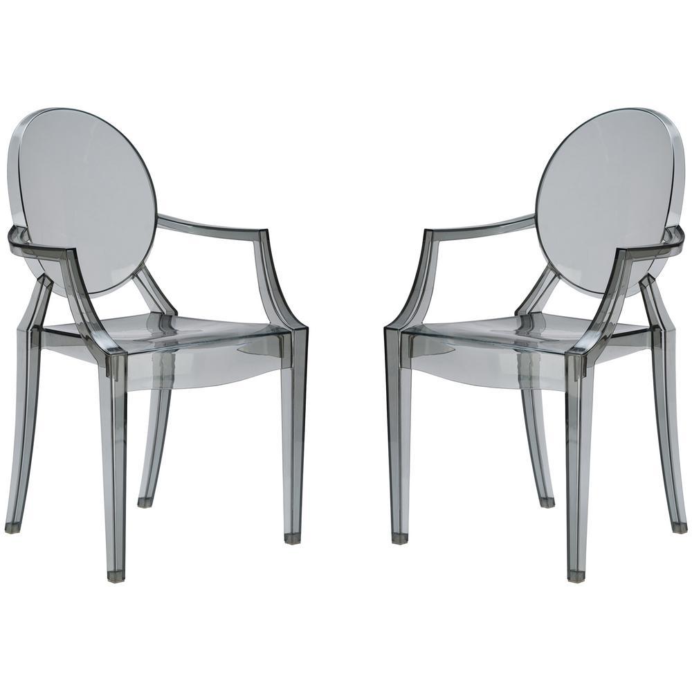 Poly and Bark Burton Smoke Arm Chair (Set of 2)