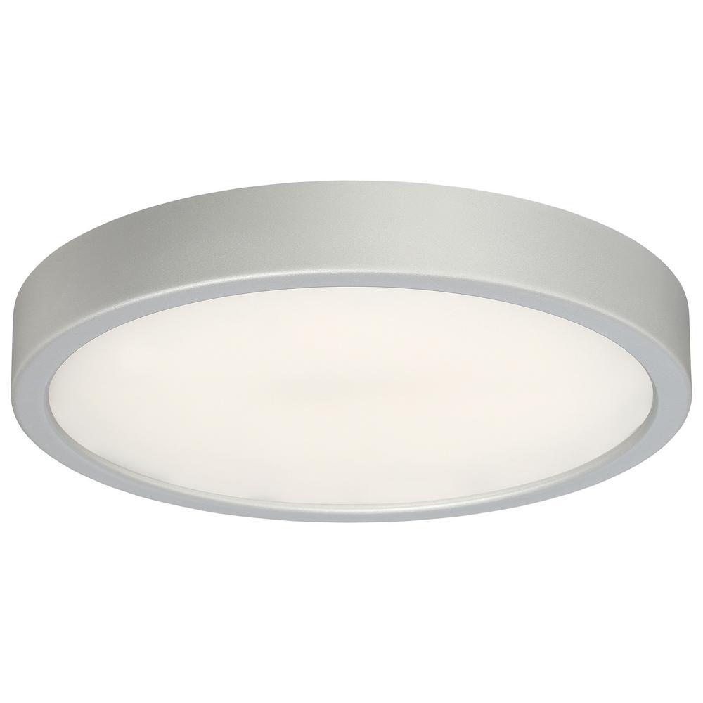 75-Watt Equivalent Silver Integrated LED Flush Mount