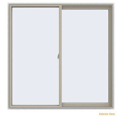 59.5 in. x 59.5 in. V-2500 Series Desert Sand Vinyl Right-Handed Sliding Window with Fiberglass Mesh Screen