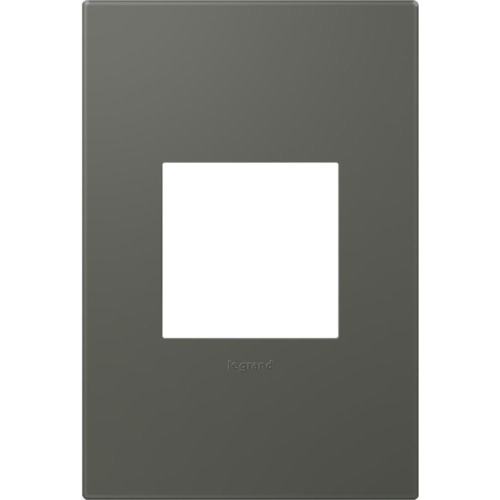 1-Gang 2 Module Wall Plate, Soft Touch Moss Grey