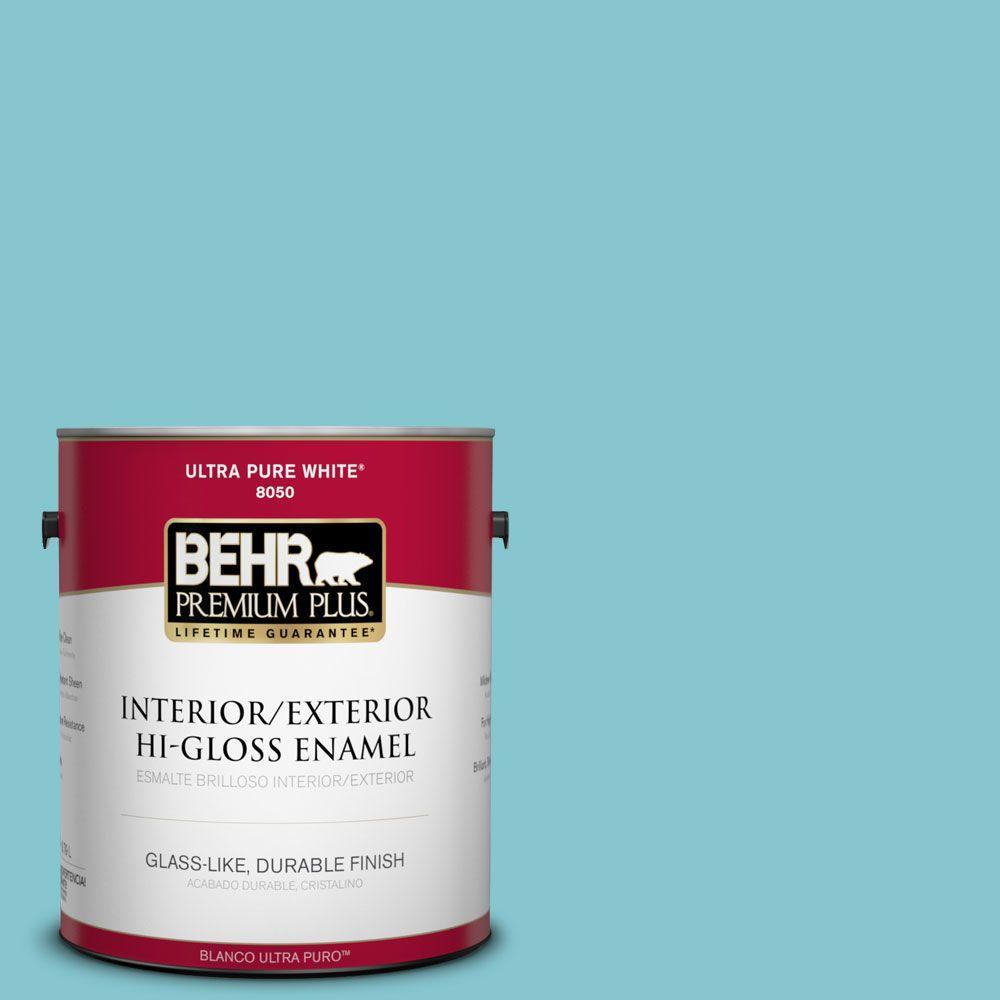 1-gal. #520D-4 Shallow Sea Hi-Gloss Enamel Interior/Exterior Paint