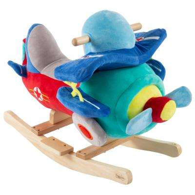 Kids Plush Rocking Plane