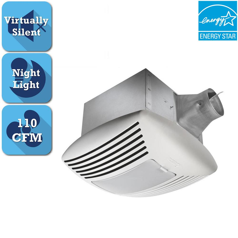 Delta Breez Signature G2 Series 110 CFM Ceiling Bathroom Exhaust Fan with Adjustable Dual Speed and Night-Light