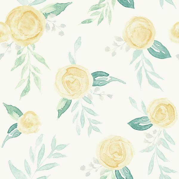 Magnolia Home by Joanna Gaines 56 sq. ft. Watercolor Roses Wallpaper