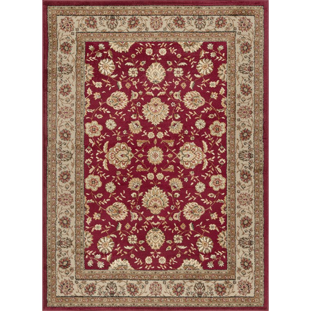 tayse rugs elegance red 7 ft 6 in x 9 ft 10 in traditional area rug 5140 red 8x10 the home. Black Bedroom Furniture Sets. Home Design Ideas