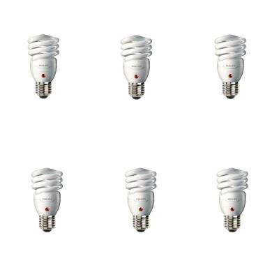 60-Watt Equivalent T2 Spiral Dusk-Till-Dawn CFL Light Bulb Soft White (2700K) (6-Pack)