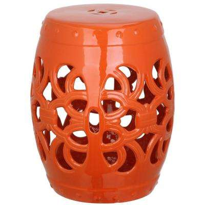 Imperial Vine Orange Garden Patio Stool
