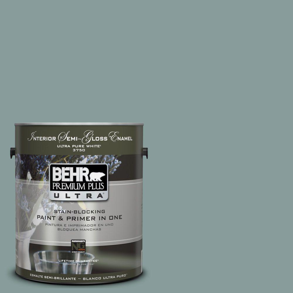 BEHR Premium Plus Ultra 1-gal. #UL220-18 Agave Interior Semi-Gloss Enamel Paint