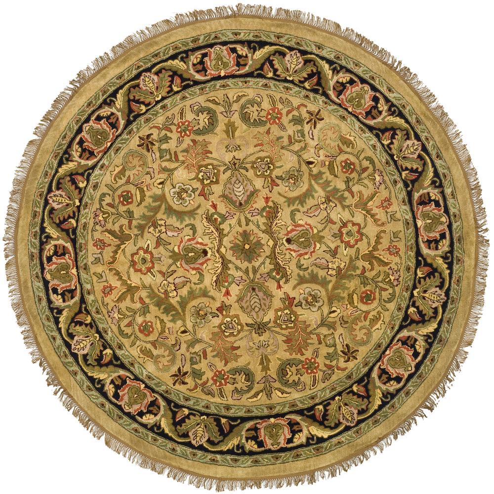 Safavieh Heritage Light Green Black 8 Ft X Round Area Rug