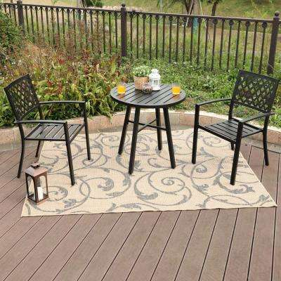 3-Piece Metal Patio Conversation Set