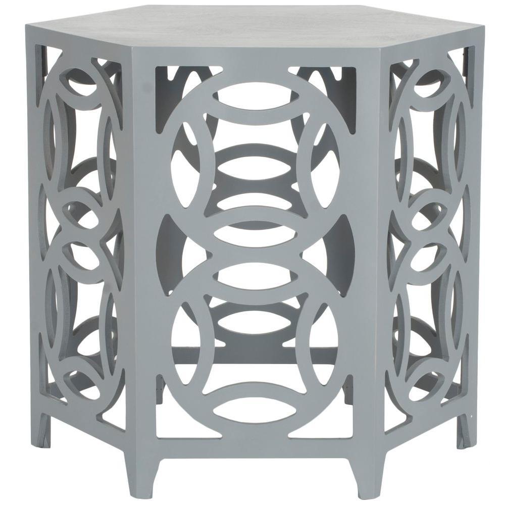 Safavieh Natanya Pearl Blue Grey Side Table AMH4613B