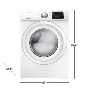Samsung 7 5 cu  ft  Gas Dryer in White
