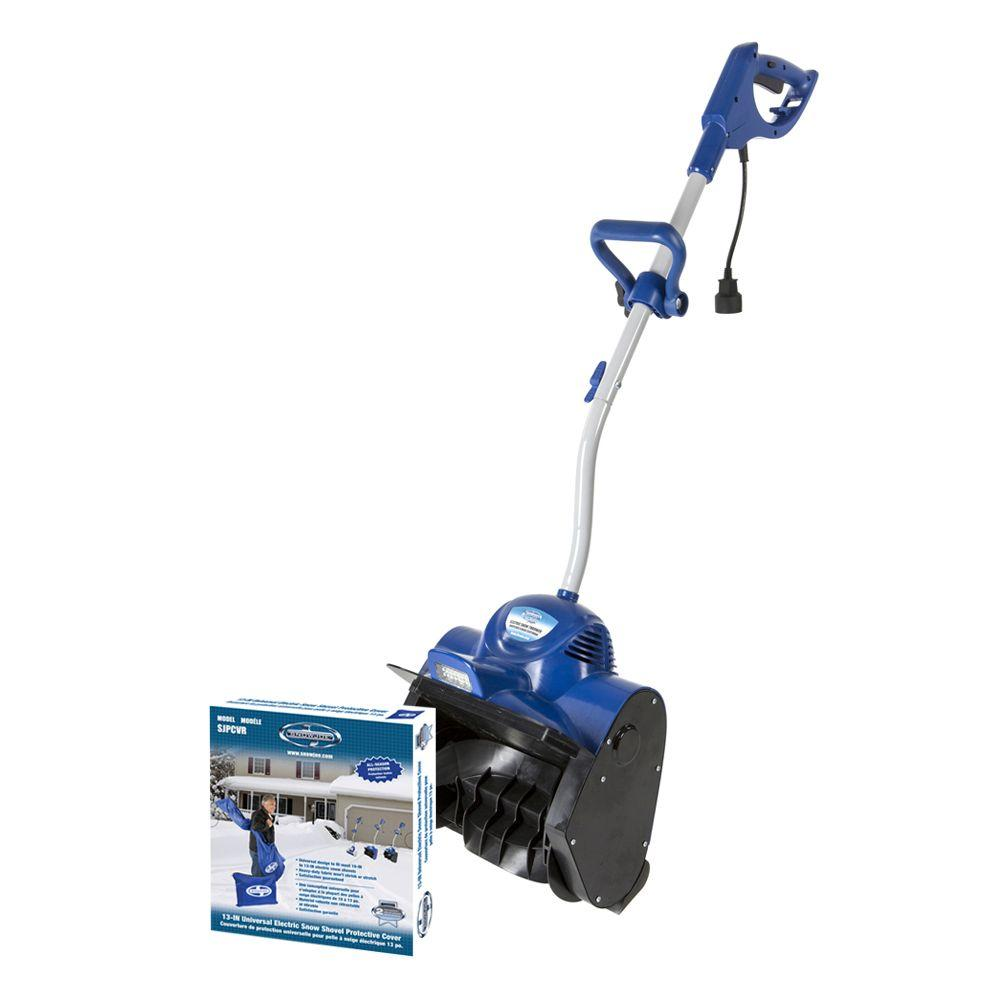 Snow Joe Plus 11 in. 10 Amp Electric Snow Blower Shovel with Light and Bonus Cover