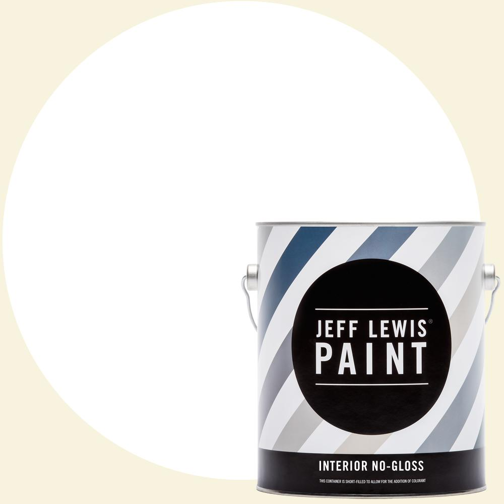Jeff Lewis 1 gal. #610 White Collar No Gloss Interior Paint