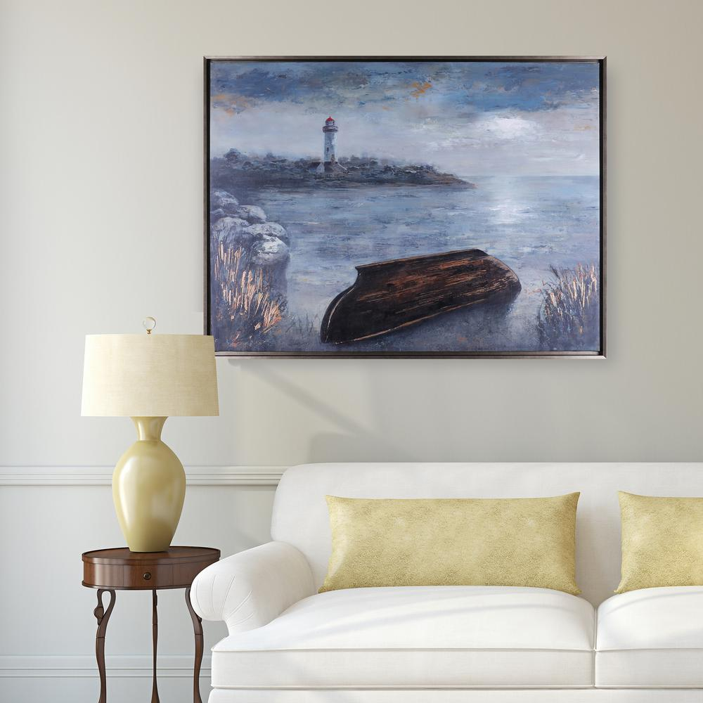 30.75 in. x 40.75 in. By the Sea, Framed Acrylic Printed Canvas Wall ...
