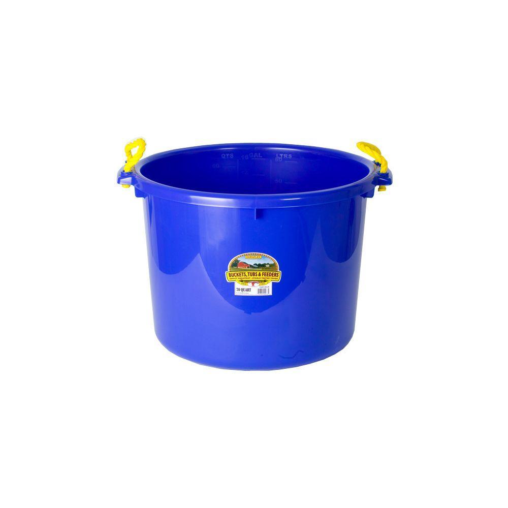 70 qt. Plastic Blue Muck Bucket