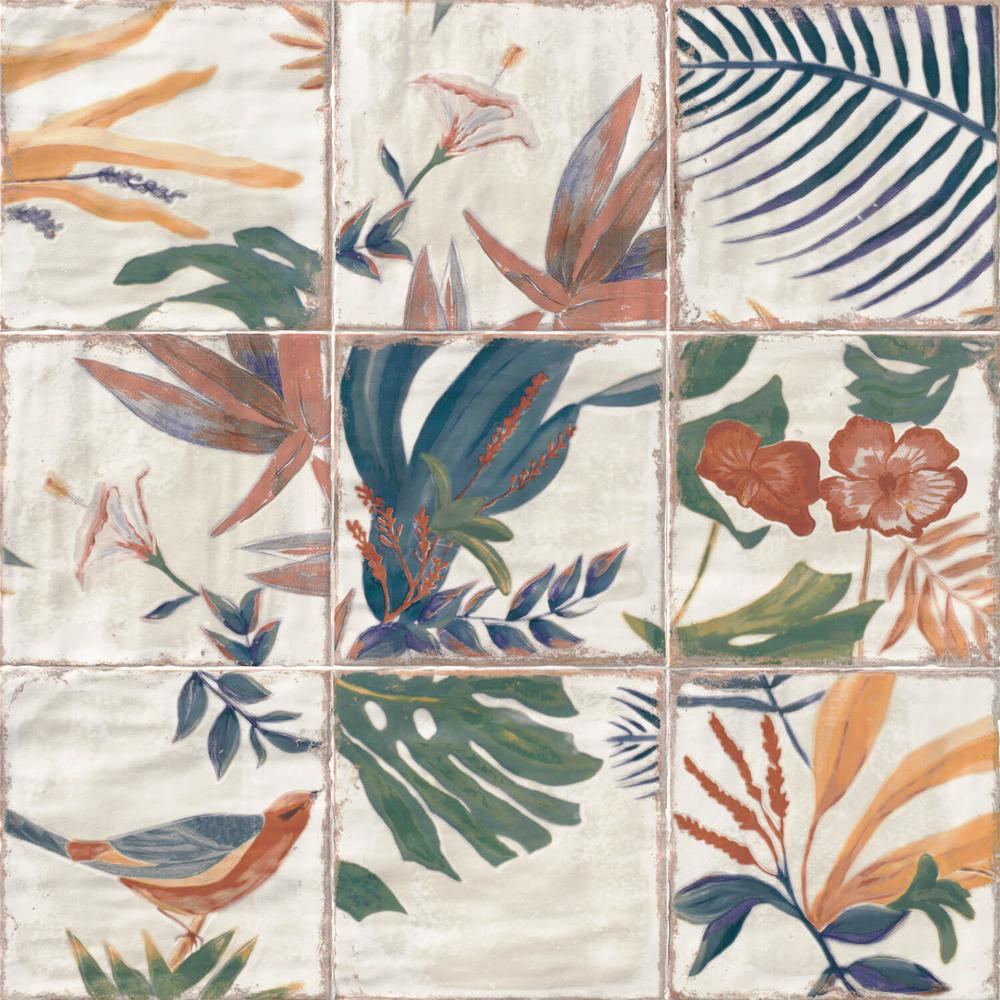 Ivy Hill Tile Angela Harris Sonata Decor 8 in. x 8 in. x 9mm Polished Ceramic Wall Tile (25 pieces / 10.76 sq. ft. / box)