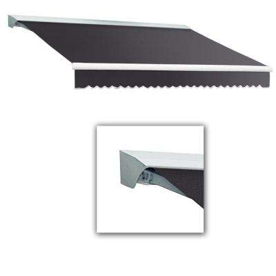 20 ft. Destin-LX with Hood Manual Retractable Awning (120 in. Projection) in Gun