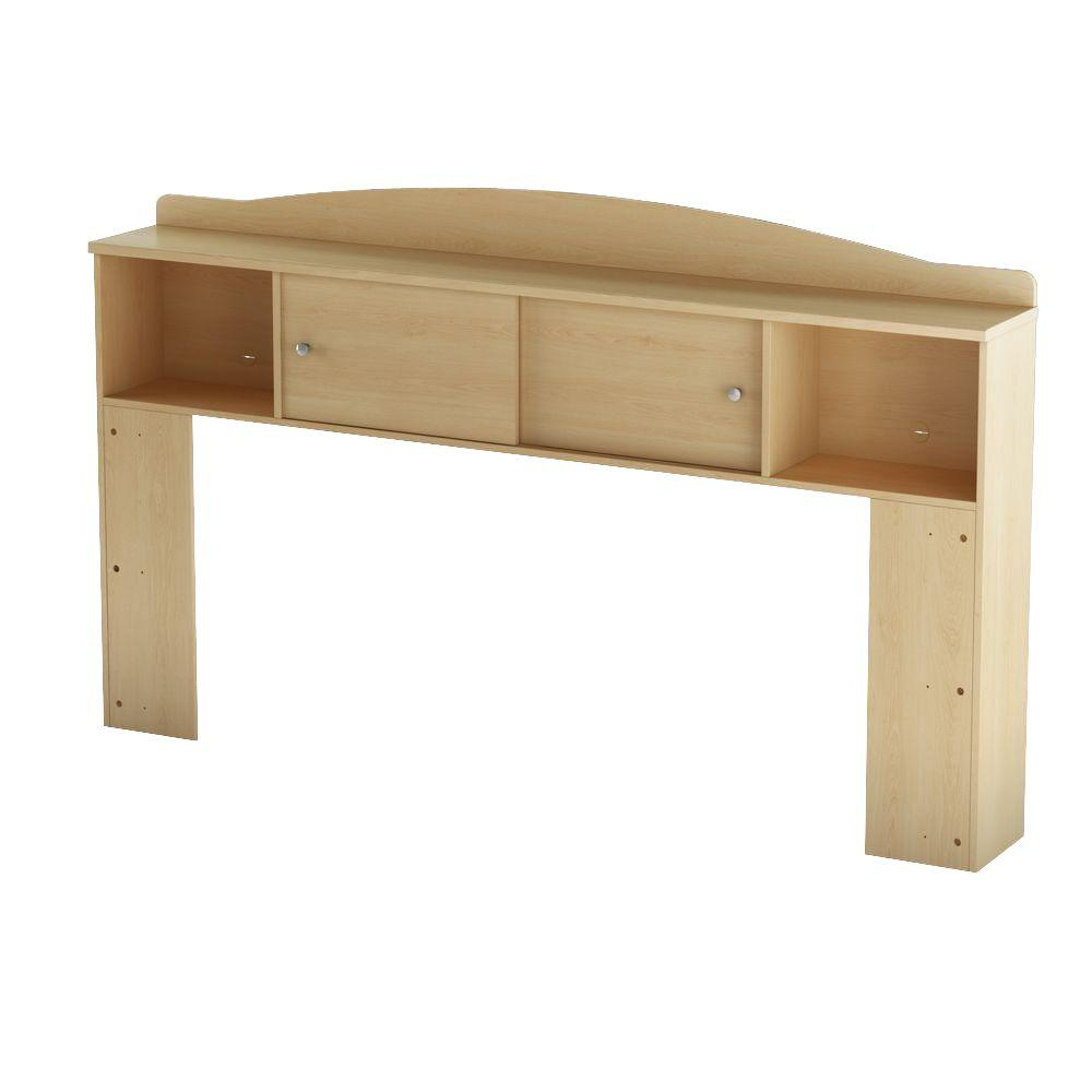 South Shore Clever Lateral Storage for Twin Storage Bed in Natural Maple-DISCONTINUED