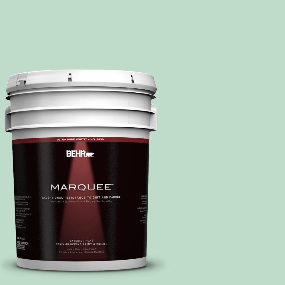5-gal. #470C-3 Spirited Green Flat Exterior Paint