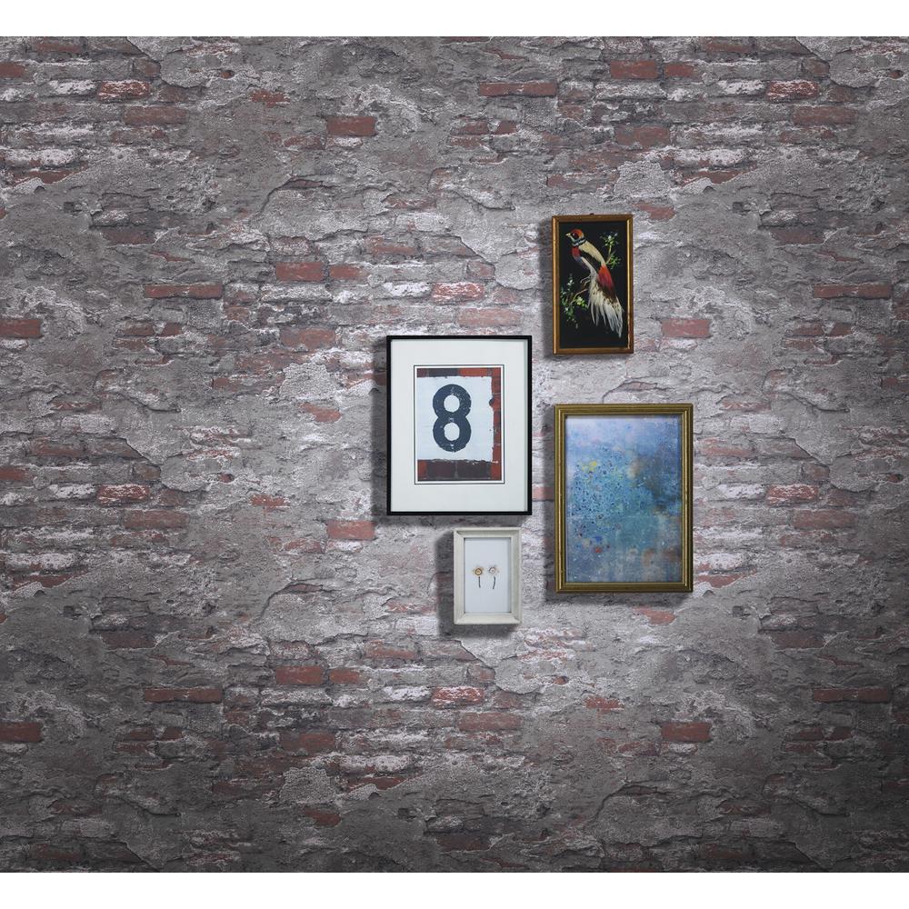 rasch 56.4 sq. ft. Templier Grey Distressed Brick Wallpaper