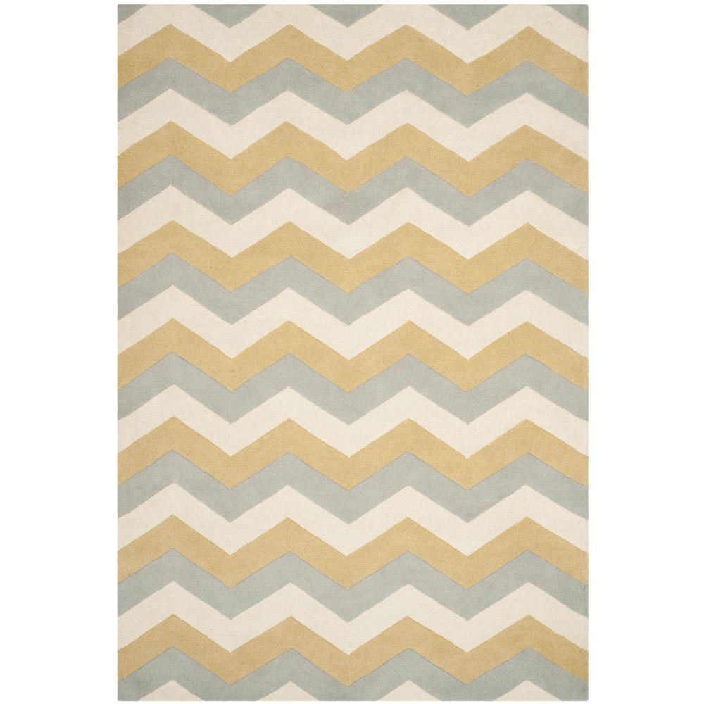 Safavieh Chatham Grey/Gold 9 ft. x 12 ft. Area Rug