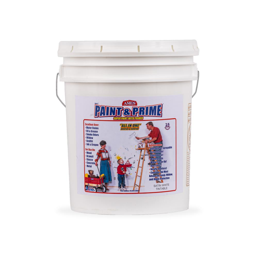 Ames Paint and Prime-5 gal. All in One Elastomeric Primes and Paints