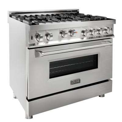 36 in. Professional 4.6 cu. ft. 6 Gas on Gas Range in Stainless Steel