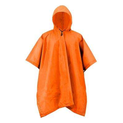 XT Series One Size Blaze Orange Adult Rain Poncho