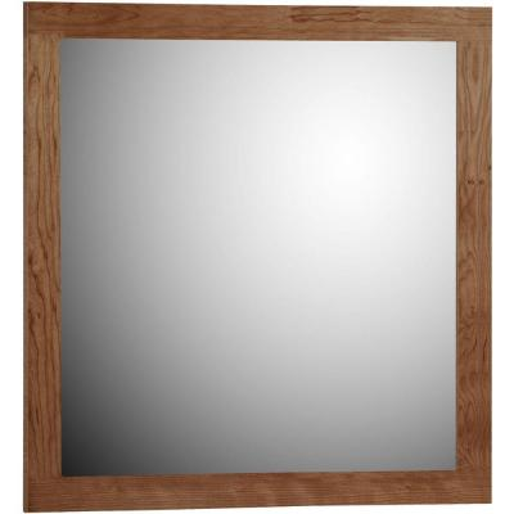 Shaker 30 in. W x 32 in. H Framed Rectangular Bathroom Vanity Mirror in medium alder
